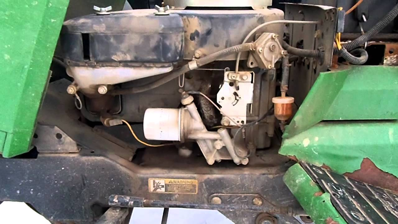 John Deere 265 Garden Tractor Rough Idle Issue MP4 YouTube