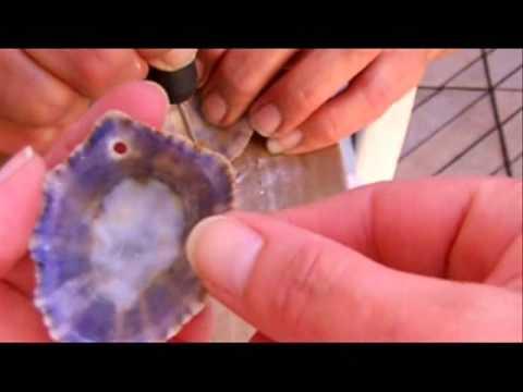 Como hacer agujeros en caracolas conchas mejillones y - Como hacer conchas finas ...