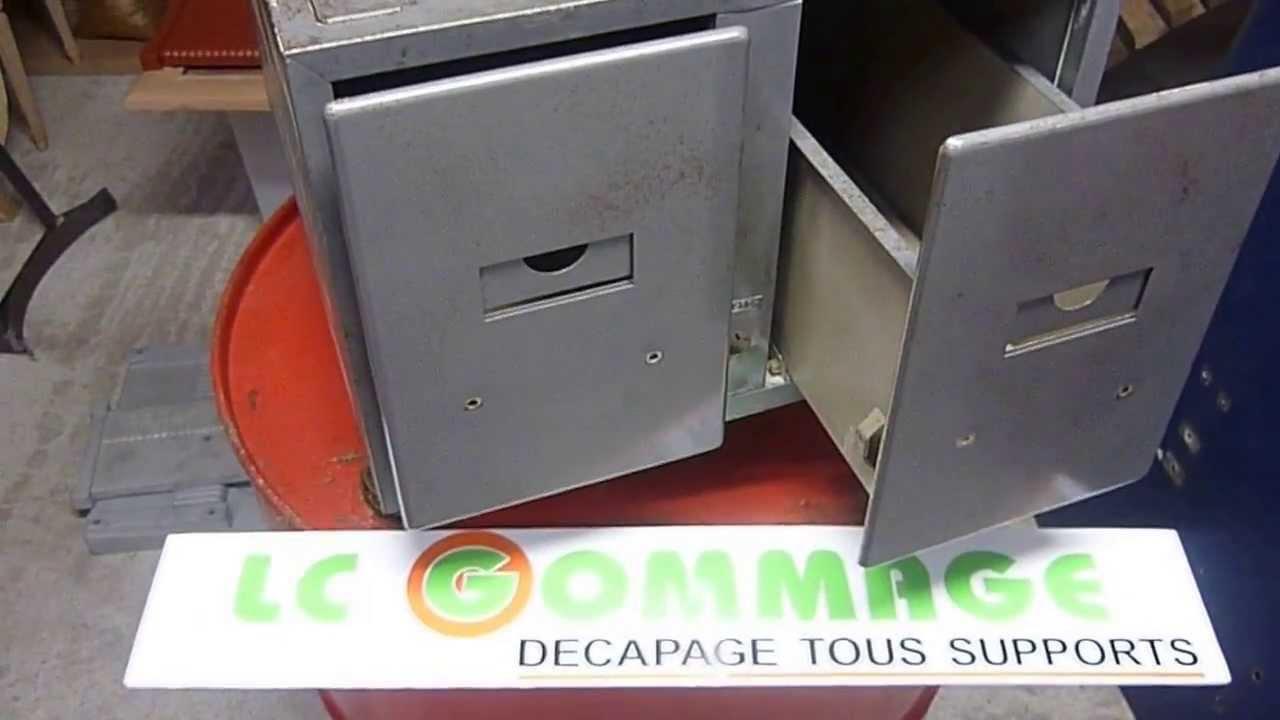 Bien connu Décapage par Aérogommage d' un casier de type industriel. 2/2  ZB83