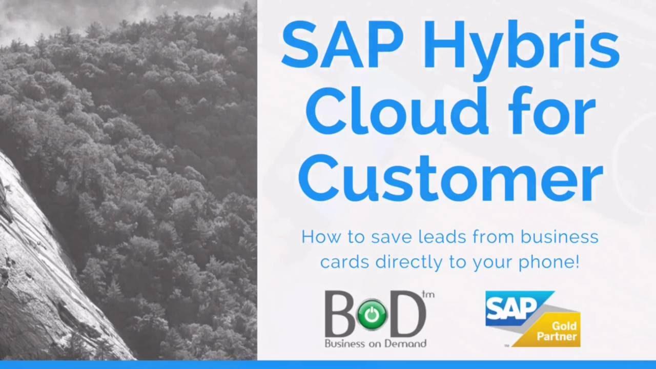 SAP Hybris Business Card Scanner App   Tutorial   Business on ...