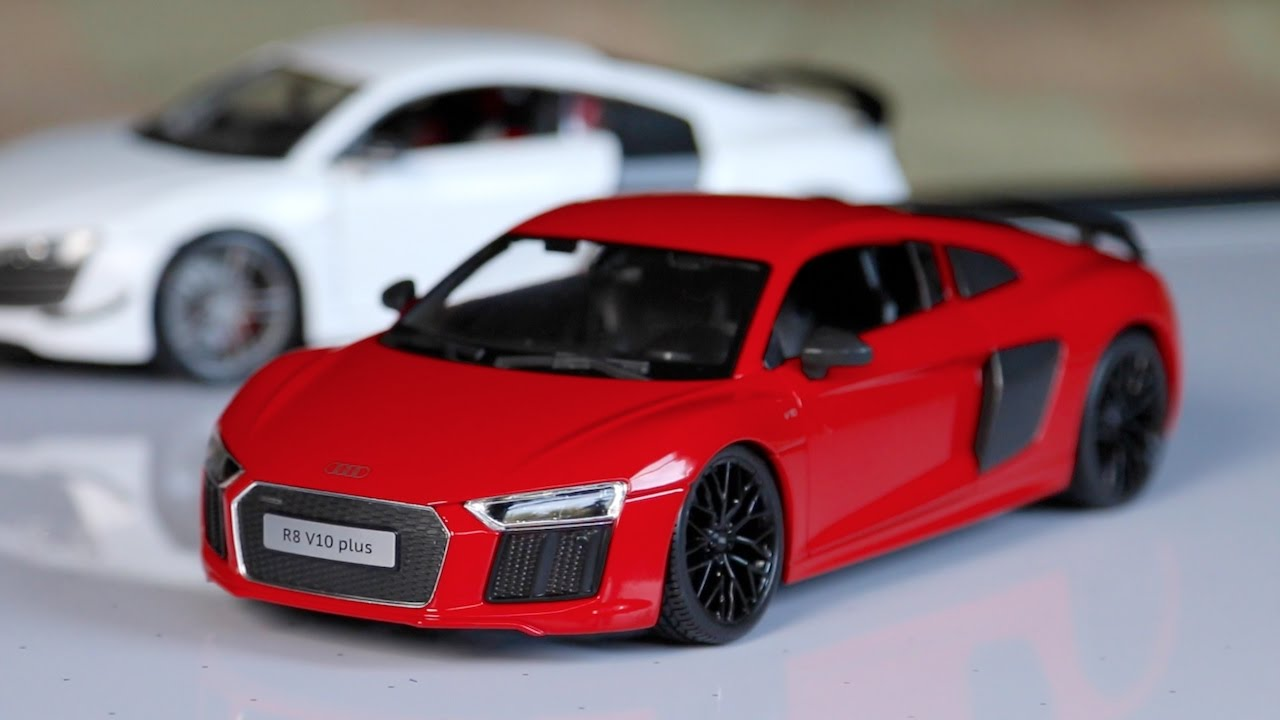 Review - 1:18 Scale Maisto Audi R8 V10 Plus - YouTube
