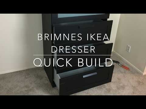 Ikea Furniture Quick Build Brimnes Dresser You