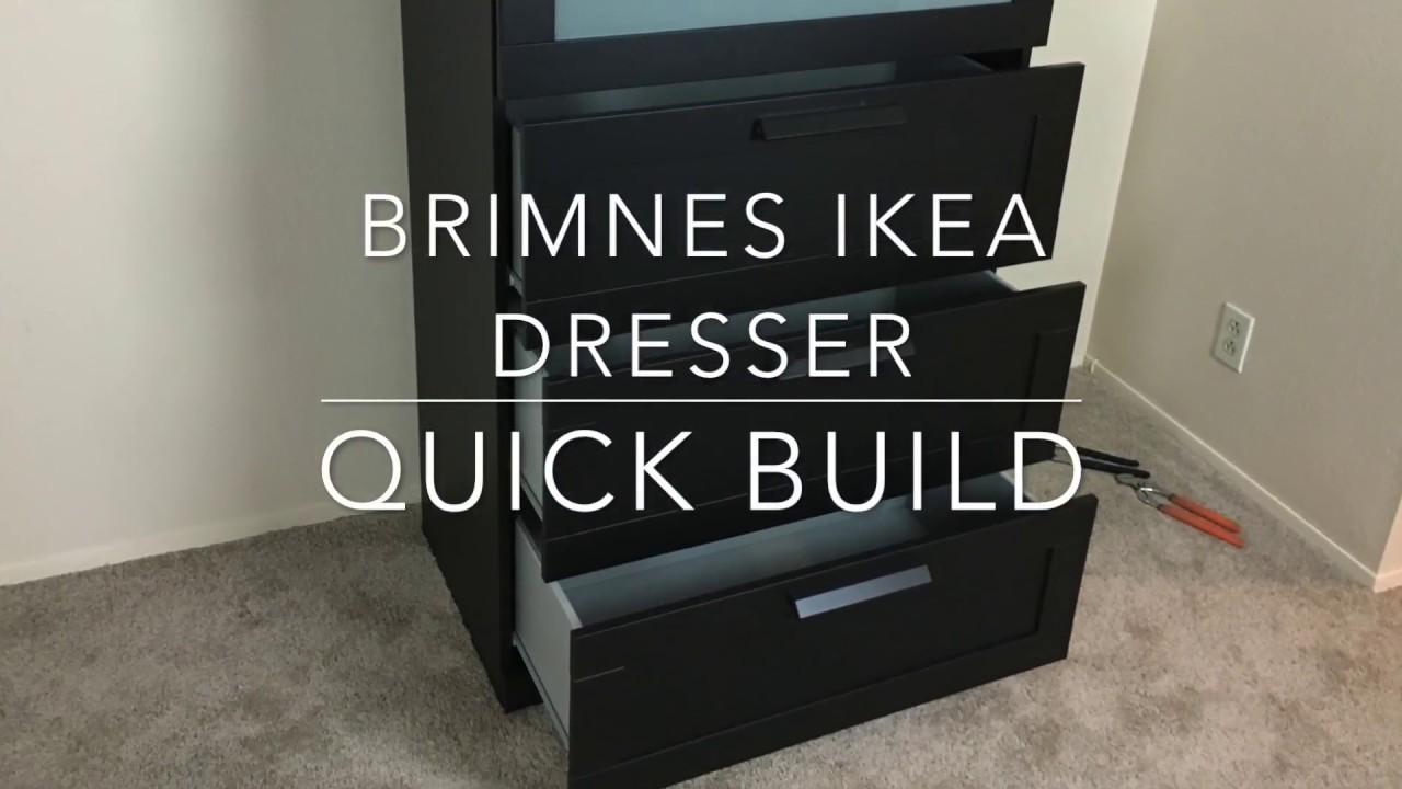 Ikea Furniture Quick Build Brimnes Dresser Youtube