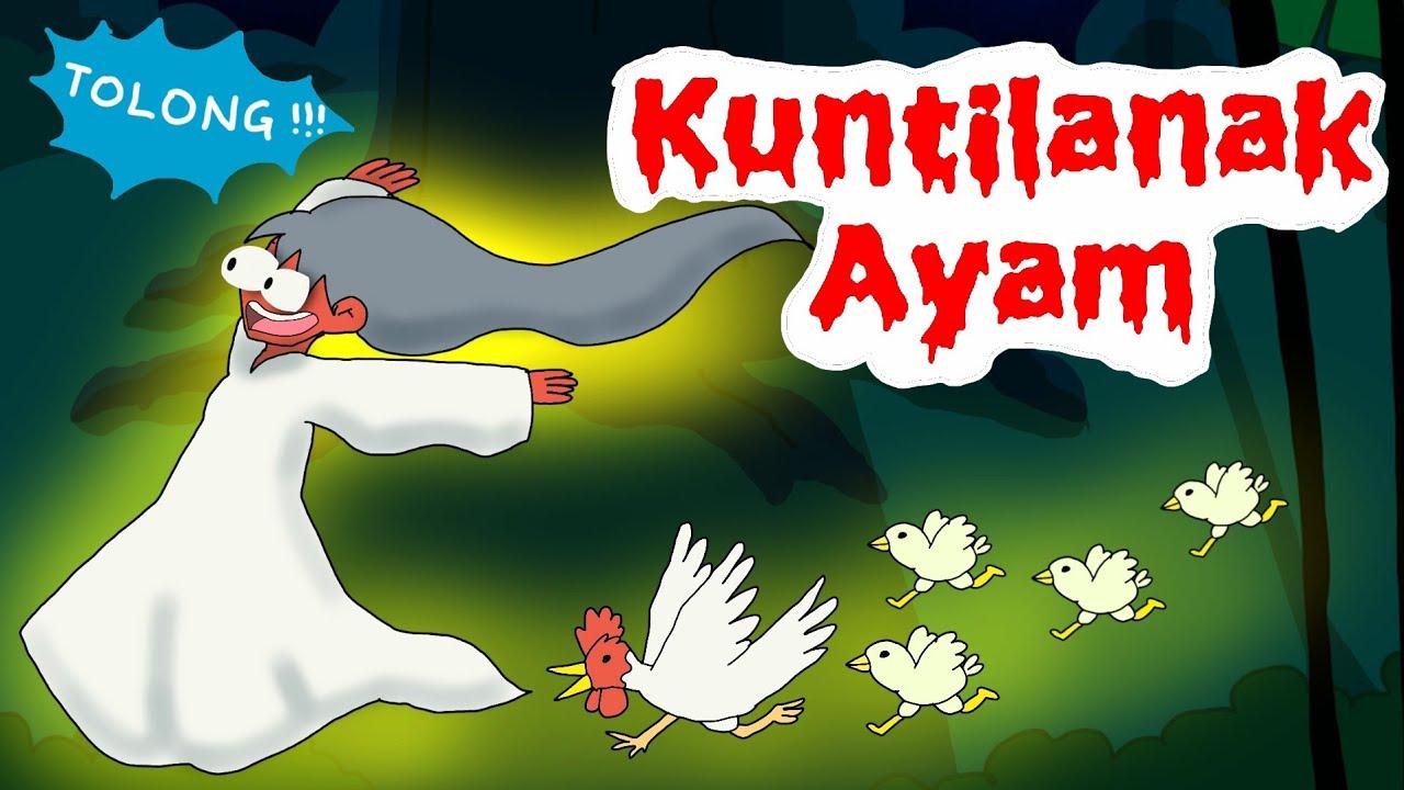 Mitos Ayam Putih Peliharaan Kuntilanak ?? Benarkah Akan Membawa Sial ? 😟 - Kartun Horor Komedi