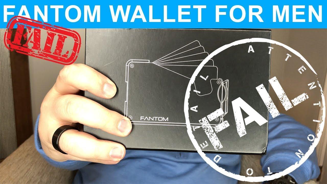 Fantom Wallet For Men Kickstarter FAIL Review