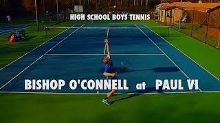 Varsity Boys Tennis Singles: Bishop O