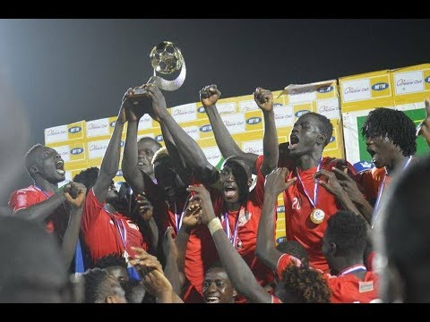 Welcoming of The Gambia U 20 At The Banjul International Airport From The WAFU tournament in Liberia