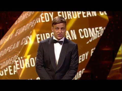 Tom Wlaschiha presenting the European Comedy award at the European Film Awards 2016
