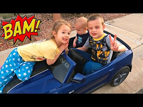 Thumbnail: POWER WHEELS - How Many Kids Can We Get In Here? Crashing into Baby With Car