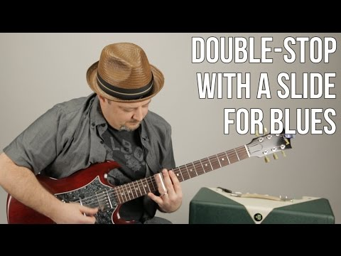 Slide Guitar Lessons - Double Stops for Blues Rock Rhythm Guitar with a Slide