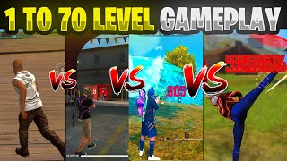 1 LEVEL TO 70 LEVEL Gameplay 😱 | #Shorts | Garena Free Fire