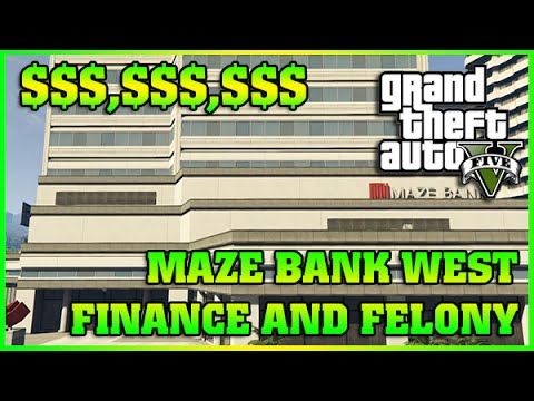 MAZE BANK WEST | Finance and Felony | GTA 5 Online DLC