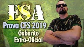 GABARITO PROVA #ESA CFS 2018/2019 | MATEMÁTICA | Escola de Sargentos das Armas (CFS 2019/2020)