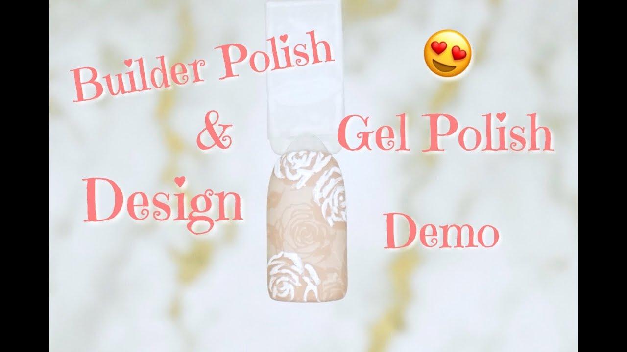 Gel Nails At Home 🏡   Builder Polish & Gel Polish Design ...