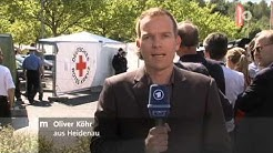 Merkel in Heidenau bei Flüchtlingen