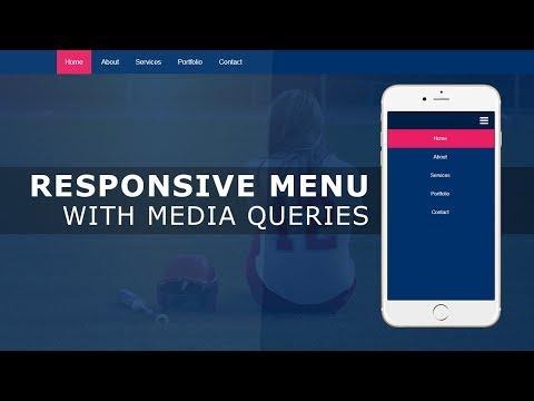 Responsive Navigation Bar With HTML CSS And Javascript | Responsive Menu