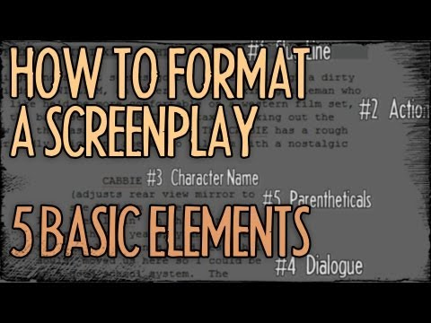 How To Format A Screenplay - 5 Basic Elements : FRIDAY 101