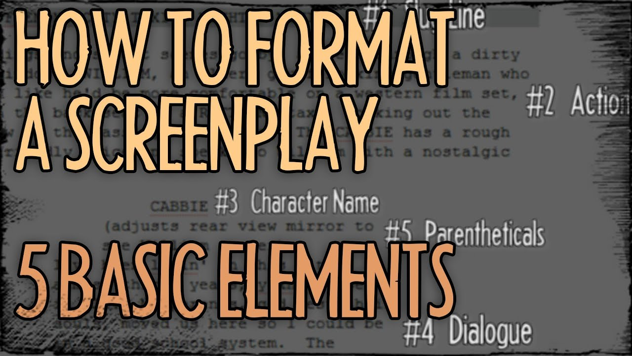 How To Format A Screenplay – 5 Basic Elements : FRIDAY 101