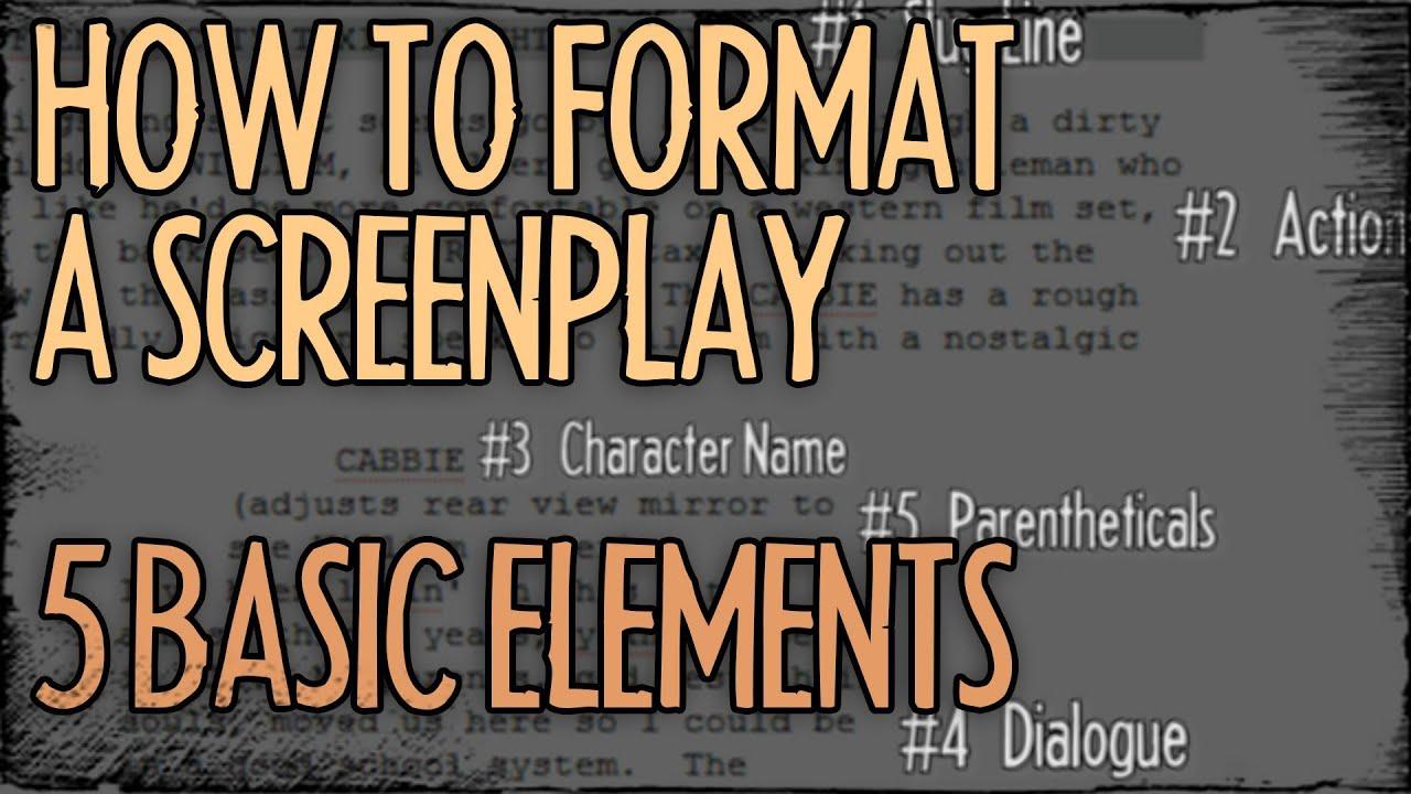 script writing format