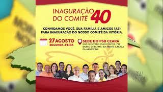 Deputado Odorico Monteiro, presidente do PSB do Ceara, convida militância para a inauguração do comitê