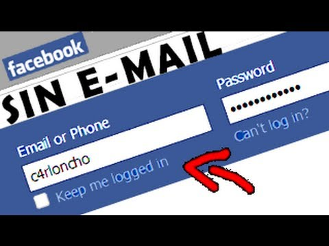 Como Entrar A Facebook Sin Correo Electrónico