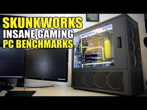 Crazy Overkill Watercooled Gaming PC Benchmarks - Skunkworks