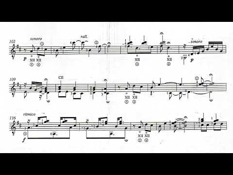 Ernesto García de León - El Viejo (The Old Man), Op.15 for Guitar (Score video)
