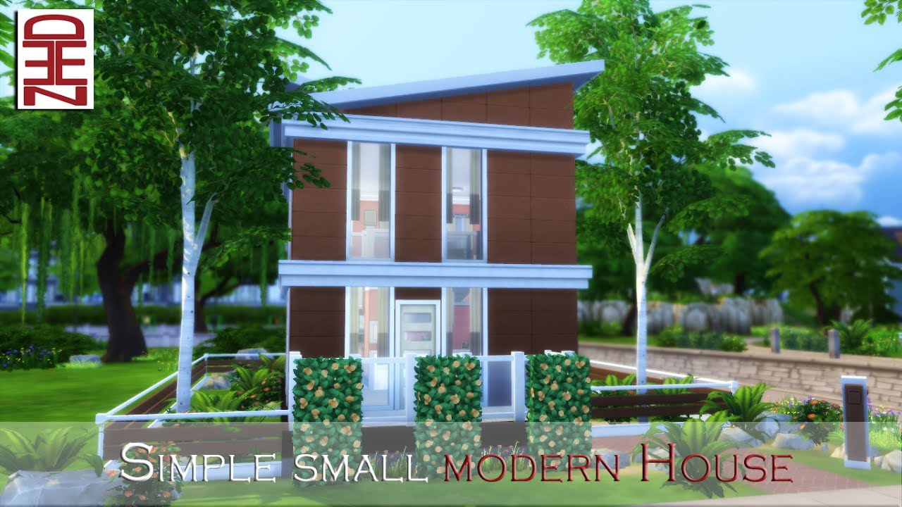 The Sims 4 Speed Build Simple Modern House No CC YouTube