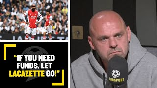 """""""IF YOU NEED FUNDS, LET LACAZETTE GO!"""" Danny Murphy highlights what Arsenal need to do to compete!"""