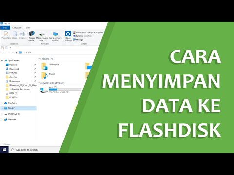 How to Save Files / Data to Flashdisk | From Computer to Flashdisk or vice versa.