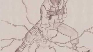 Naruto drawings - Kakashi Chidori