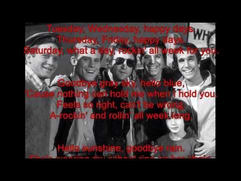 Happy Days by Pratt and McClain /with Lyrics