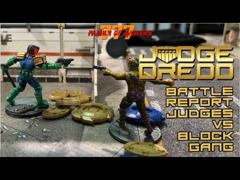 Judge Dredd Miniatures Game-Battle Report-Judges Vs. Block Gang