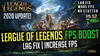 🔧League Of Legends 2020: Increase Your FPS And Fix Lag On Low End PC