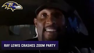 Ray Lewis Drops in on Ravens Fan Zoom Hangout | Baltimore Ravens