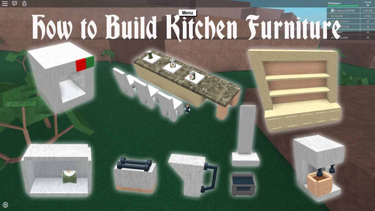 lumber tycoon 2 how to build kitchen furniture youtube. Black Bedroom Furniture Sets. Home Design Ideas