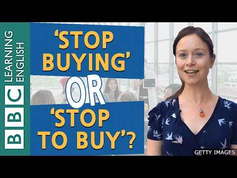 Grammar: 'stop buying'