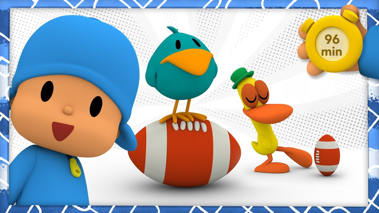 🏈 POCOYO AND NINA - Super bowl is here [96 min] | ANIMATED CARTOON for Children | FULL episodes