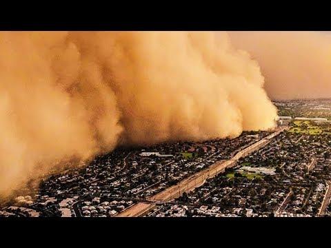 Пыльная буря обрушилась на Душанбе
