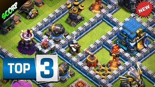 Clash Of Clans - TOP 3 TH12 (TOWN HALL 12) Trophy Bases Legend League 2019