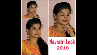 Navratri Makeup Tutorial 2018|Durga Pooja|Garba Makeup|Beauty withrovina