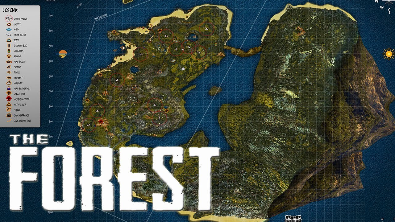 Mapa De The Forest.The Forest 17 El Mapa Hd Espanol