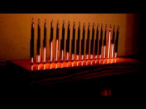 NIEXIE audio spectrum analyser on IN-9 tubes