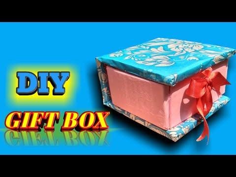 DIY GIFT BOX | PAPER CRAFT | CARDBOARD CRAFT | How to make cardboard gift box at home |