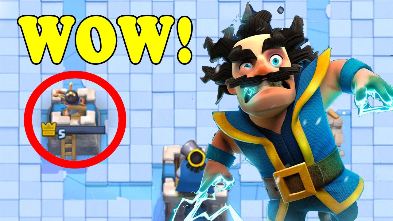 luckiest electro wizard battle in clash royale this