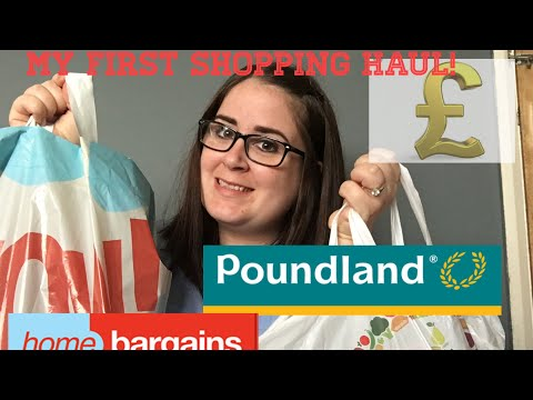 MY FIRST SHOPPING HAUL!! - Poundland and Home Bargains - September 2019
