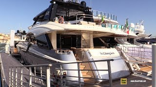 2019 Monte Carlo Yachts 86 - Deck and Bridge Walkaround - 2018 Cannes Yachting Festival