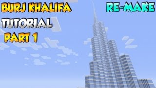 Minecraft Burj Khalifa Tutorial Part 1 (Re-make)