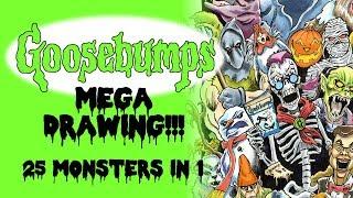 Goosebumps Mega Drawing!!! | 25 Monsters in 1