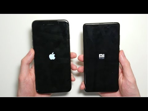 Xiaomi Mi Mix 2 vs iPhone 8 Plus Speed Test!